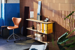 Planner shelving, Series 7 and PM-02 table lamp