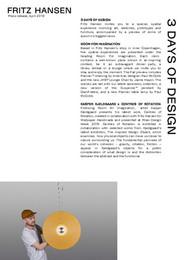 Press Release - 3 Days of Design - EN - PDF