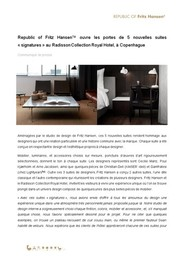 Press release, Signature Suites, FR