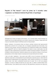 Press release, Signature Suites, FR