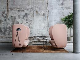 Plenum high-back sofa system