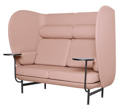 Plenum high-back sofa system - pink