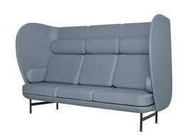 Plenum high-back sofa system - grey