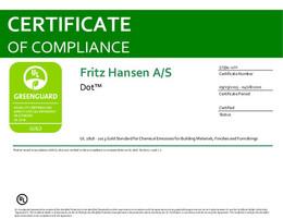 Greenguard Gold Certificate, Dot, EN - 2020