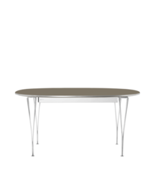 Table Series - Super-Elliptical w. extension, Brown Ottawa (rendering)
