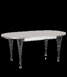 Table Series - Super-Elliptical w. extension, Grey Efeso (rendering)