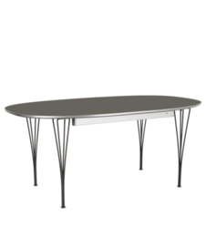 Table Series - Super-Elliptical w. extension, Grey (rendering)