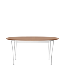 Table Series - Super-Elliptical w. extension, Walnut (rendering)