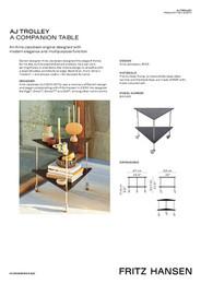 Accessories SS20 - AJ Trolley - Product fact sheet - EN
