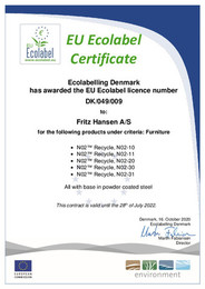 EU-Ecolabel - Certificate - N02 Recycle