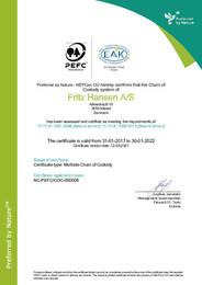 PEFC COC Certificate 2021