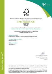 FSC COC Certificate 2021