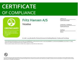 Greenguard Certificate, Vico Duo, EN - 2021