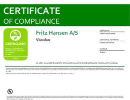 Greenguard Gold Certificate, Vico Duo, EN - 2021