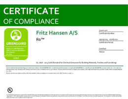 Greenguard Gold Certificate, Ro, EN - 2021
