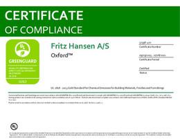 Greenguard Gold Certificate, Oxford, EN - 2021