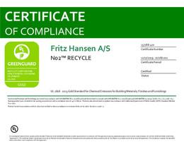 Greenguard Gold Certificate, N02 Recycle, EN - 2021