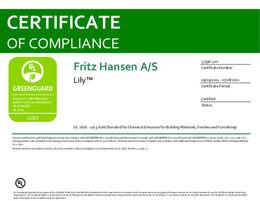 Greenguard Gold Certificate, Lily, EN - 2021