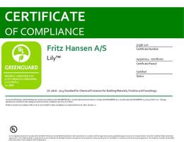 Greenguard Certificate, Lily, EN - 2021