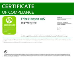Greenguard Gold Certificate, Egg Footstool, EN - 2021