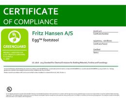 Greenguard Certificate, Egg footstool, EN - 2021