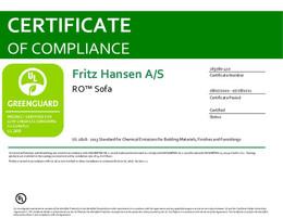 Greenguard Certificate, Ro Sofa, EN - 2021