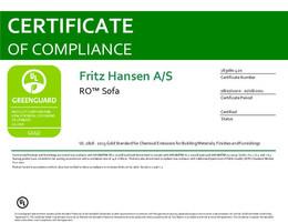 Greenguard Gold Certificate, Ro Sofa, EN - 2021