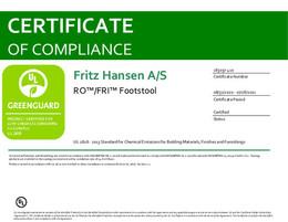 Greenguard Certificate, Ro and Fri Footstool, EN - 2021
