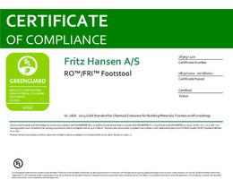 Greenguard Gold Certificate, Ro and Fri Footstool, EN - 2021