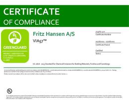 Greenguard Certificate, VIA57, EN - 2021