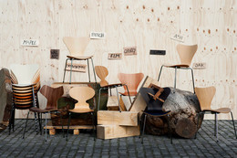 Stacking chairs by Arne Jacobsen