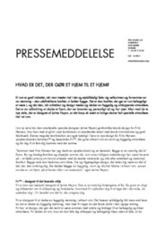 Press Release Fri & Sammen DK