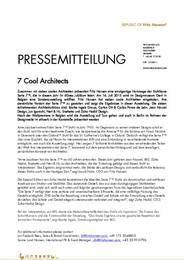 Press Release 7 Cool Architects 2015 DE