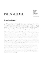 Press Release 7 Cool Architects 2015 ENG