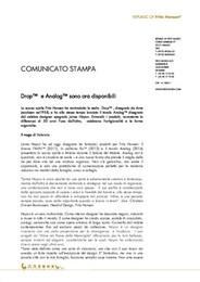 Press Release Drop & Analog IT