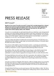 Press Release minuscule 2012 ENG