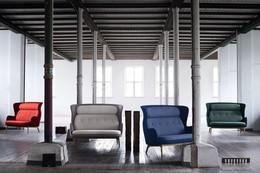 Ro Sofa - Red, Warm Grey, Blue, Green