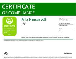 Greenguard Gold Certificate, Lily, EN - 2020
