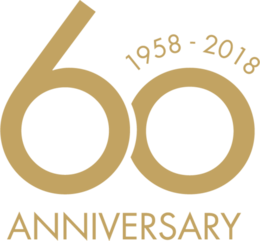 Egg, Swan and Drop - 60th anniversary icon, gold