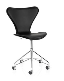 Series 7 - Front upholstered, black leather