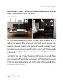 Press release, Signature Suites, DK