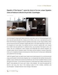 Press release, Signature Suites, ENG