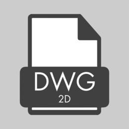 2D DWG - Table Series, pedestal base