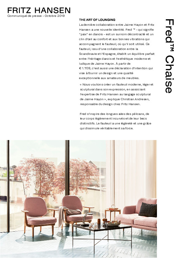Design Bank En Fauteuil.Downloads Fritz Hansen Image Details Press Release Fred